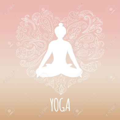 33871281-Icona-Yoga-con-il-cuore-e-di-pratica-della-ragazza-posa-di-loto-Silhouette-bianca-e-bella-rosa-sfond-Archivio-Fotografico.jpg